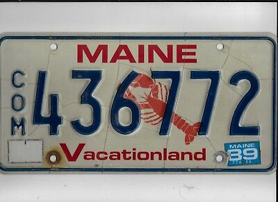 """MAINE license plate """"436772"""" ***LOBSTER GRAPHIC***"""