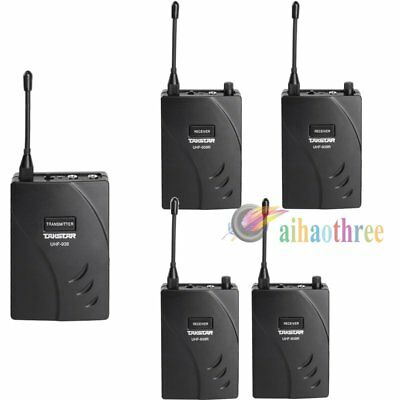 Takstar UHF-938 PLL Wireless Tour Guide System Transmitter + 4Pcs Receiver【AU】