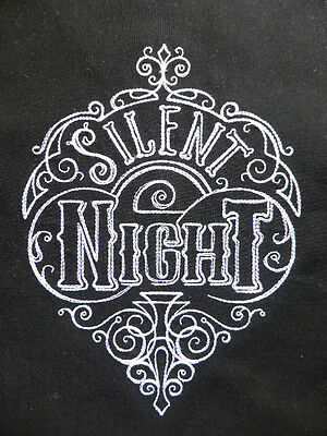 Silent Night ~ Embroidered Quilt Block/Panel