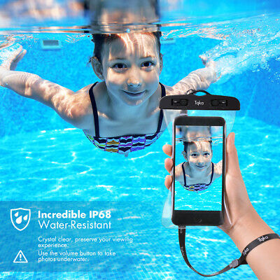 Tqka Underwater Pouch Waterproof Dry Bag Case Cover For iPhone Smart Phone KA17