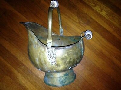 "Vintage ""Coal or plant bucket with weathered patina."