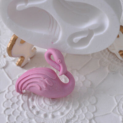 Silicone Cake Mold Flamingo Creative Decoration Mould Resin Clay Tools