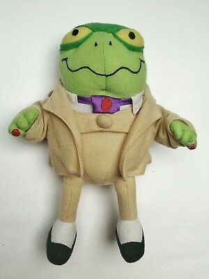 """Danger Mouse 9"""" Tall Plush Toy Greenback 1981 vintage Cosgrove Hall bbc"""