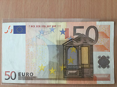 Banknote 50 Euro S Italy Duisenberg
