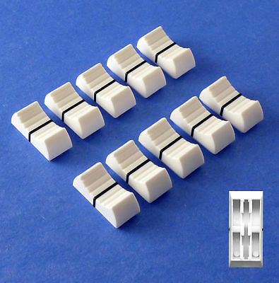 PENNY and GILES Fit Mixer Slider Fader Knobs White X 10 (+Option Black or Grey)