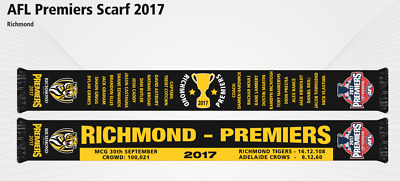 Richmond Tigers 2017 AFL Premiers Scarf! In Stock & Ready to Ship!
