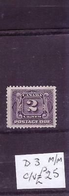 Canada postage due sg D3 mh cat £25+