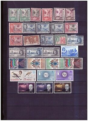 Gambia unchecked range from old collection