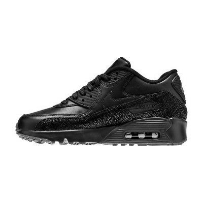 huge selection of 90e1a 2d7f1 Scarpe sportive ragazza Nike Air Max 90 SE LTH GS 859560-002 Nera Pelle