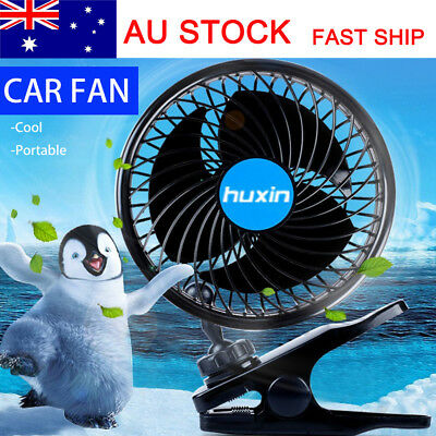 4.5 Inch 12 Volt Portable Cooler Cooling Air Fan Clip Vehicle Car Travel 2 Speed