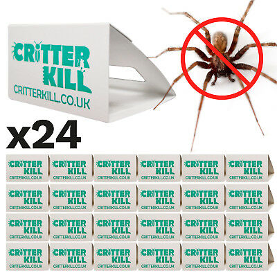 Spider Killer Traps Insect Spray Poison Free Trap Crawling Pest Control Bug X 24