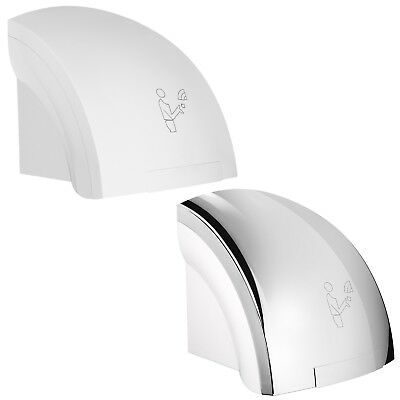 Electric Hand Dryer Automatic Warm Hot Air Chrome White Commercial Modern Design