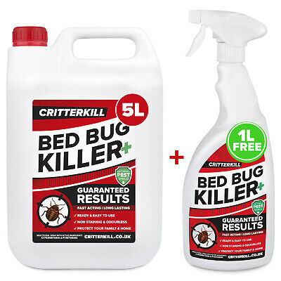 5+1L Strong Bed Bug Killer Spray Aerosol Flying Crawling Insect Insecticide Home