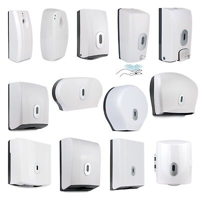 Wall Mounted Soap Roll Paper Dispenser Automatic Tissue Jumbo Dispensers White