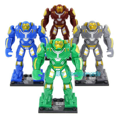"1pc 3.5"" Minifigures Building Blocks Toys Hulkbuster Iron Man Mark44 9CM"