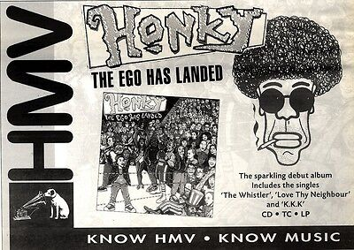 """Newspaper Clipping/advert 23/4/94Pgn42 7X11"""" Honky : The Ego Has Landed"""