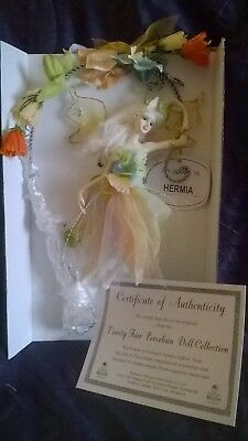 Fairy, porcelain, hanging decoration.  Delicate, pretty, hand-crafted, gift (B)