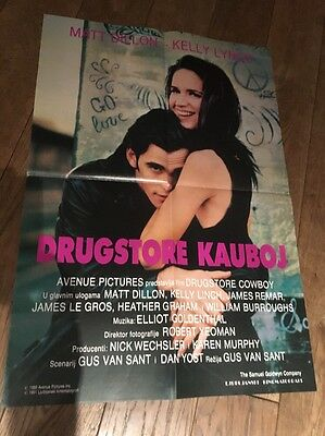 Original Drugstore Cowboy movie Poster Matt Dillon Kelly Lynch 1989