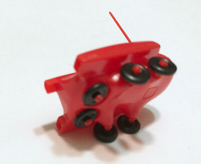 R&L CEREAL TOY ~ SPACE AGE 1969 ~MOON BUGGY ~RED w/ AERIAL, RARE AUSSIE KELLOGGS