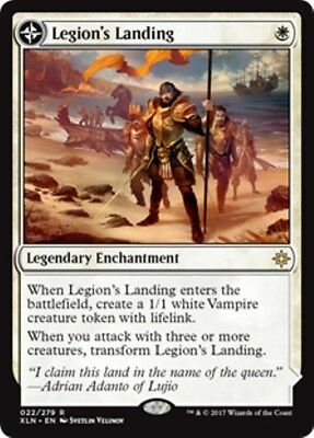 LEGION'S LANDING | ADANTO, THE FIRST FORT Ixalan MTG White Enchantment Rare
