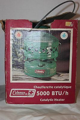Coleman Canada Model 516K 5000 Btu Catalytic Heater + Box + Instr January 1981