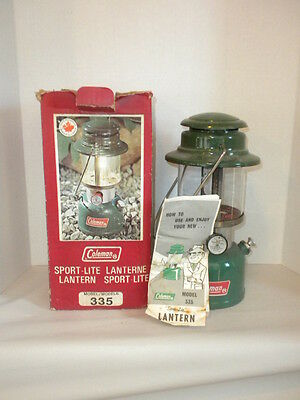 Coleman Canada 335 Lantern  With Box And Paper February 1976