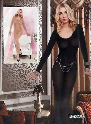Combinaison sexy Bodystocking noir catsuits femme