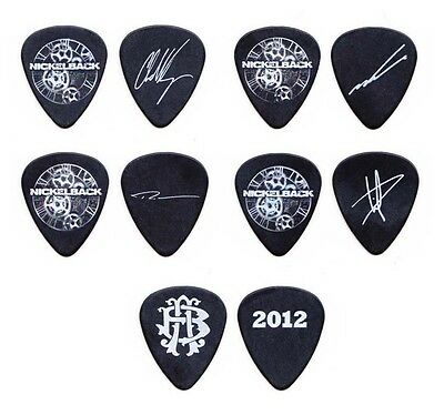Nickelback 5 Signature Guitar Pick Set - 2012 Tour Chad Kroeger