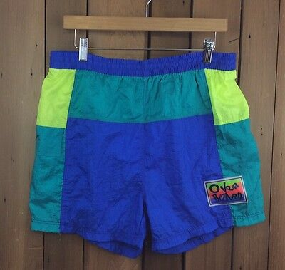Vintage 80's 90's OVERBOARD Nylon Colorblock Swimsuit Size Large