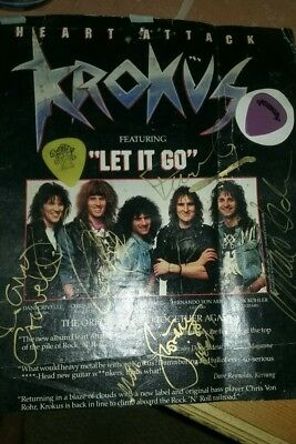 krokus signed magazine page with 2 picks