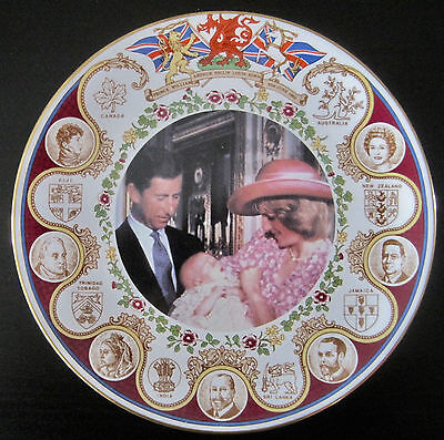 Prince William Christening Portrait Plate - Caverswall -LE 855/5000
