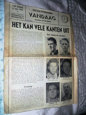 1959/60 Dutch Holland League Voldenham V Vvv Venlose