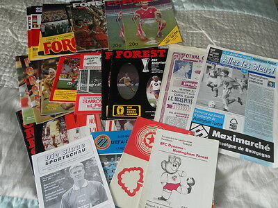 Nottingham Forest Home And Away Programmes In European Competitions 1961-96