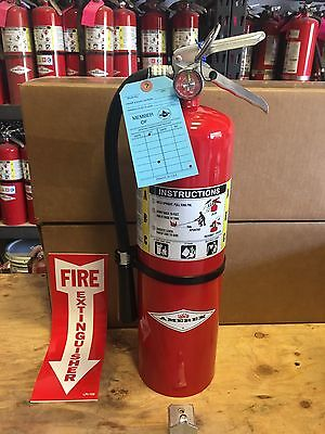 Amerex Badger Ansul 10 lb ABC Fire Extinguishers w/MA Certification Tag