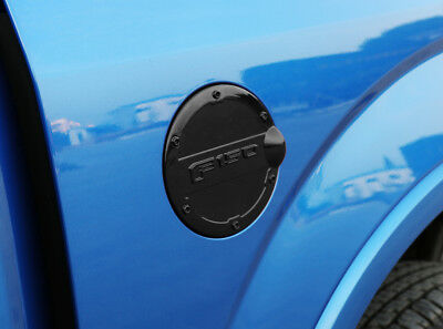 ABS Black Gas Door Cover Fuel Tank Oil Cap Trim For Ford F-150 2015-2018