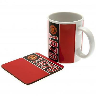 Manchester United Mug & Coaster Set Cup Gift Official Licensed Football Product