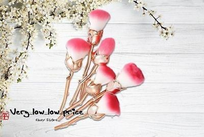 6pc Rose Spiral Make Up Beauty Brushes Set Face Foundation Beast Powder Blusher