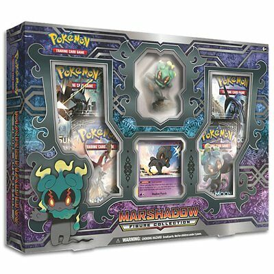 POKEMON TCG Marshadow Figure Collection Box w/ 4 Booster Packs
