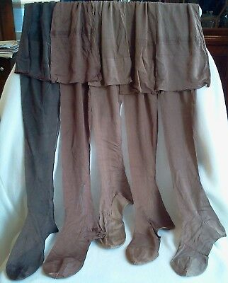 Vintage Womens Pure Silk Stockings Early 1930s Sz 8.5, Multiple colors, NOS