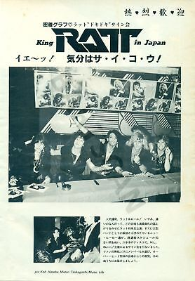 Ratt / Stephen Pearcy - Clippings From Japanese Magazine Music Life