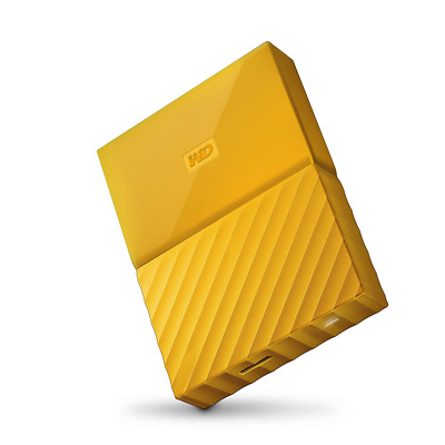 WD 2TB Yellow My Passport  Portable External Hard Drive - USB 3.0 - WDBYFT0020BY