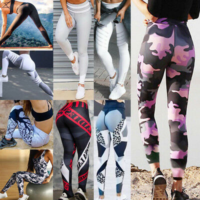 Mujere Work Out  Leggings Sport Stretch Leggins Pantalones Ejecutan Fitness Yoga