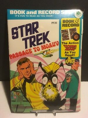 Star Trek Passage To Moauv New Sealed - 1975 Power Records Book & Record Set