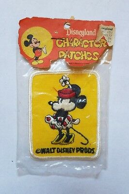 Rare Vintage New Minnie Mouse Patch - Walt Disney Productions Character