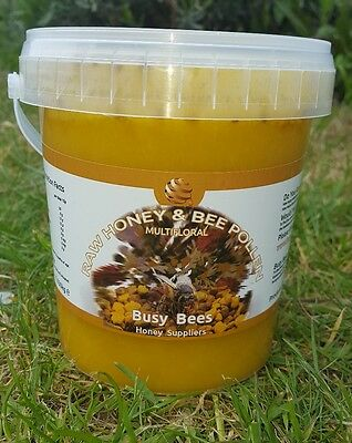 100% PURE RAW ORGANIC HONEY WITH BEE POLLEN 1.030kg