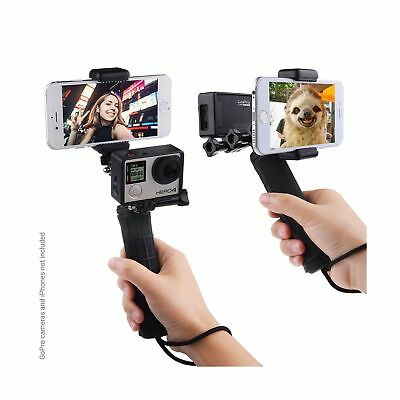 Stabilizing Hand Grip for GoPro Hero with Dual Mount Tripod Adapter and Unive...