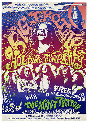 Janis Joplin & Big Brother Fresno Concert Poster