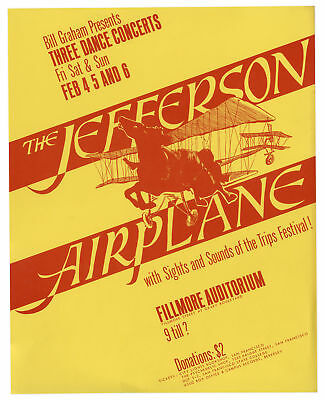 Jefferson Airplane Fillmore Poster by Bill Graham 1966