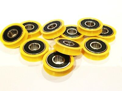 Round U Groove 608 2rs Bearings Guide Pulley Roller Wheel CNC Bearing V