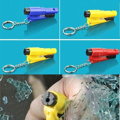 3in1 Safety Hammer Emergency Escape Window Breaker Tool Seat Belt Cutter Keyring